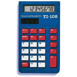 TEXAS INSTRUMENTS INC. 108/BK TI-108 8-Digit Display Instructional Calculator