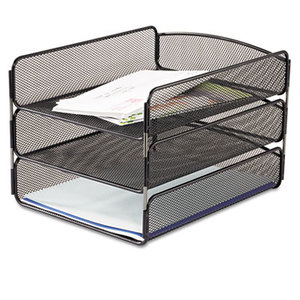 Safco Products 3271BL Desk Tray, Three Tiers, Steel Mesh, Letter, Black by SAFCO PRODUCTS