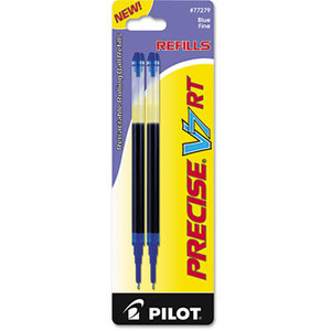 Pilot Corporation 77279 Refill for Precise V7 RT Rolling Ball, Fine, Blue Ink, 2/Pack by PILOT CORP. OF AMERICA