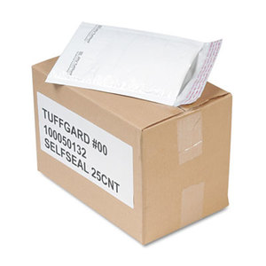 ANLE PAPER/SEALED AIR CORP. 49677 Jiffy TuffGard Self-Seal Cushioned Mailer, Side Seam, #00, 5x10, WE, 25/Carton by ANLE PAPER/SEALED AIR CORP.