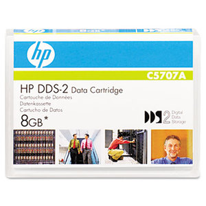 "Hewlett-Packard C5707A 1/8"" DDS-2 Cartridge, 120m, 4GB Native/8GB Compressed Capacity by HEWLETT PACKARD COMPANY"