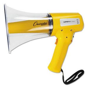 CHAMPION SPORTS MP8W Megaphone, 8-12W, 800 Yard Range, White/Yellow by CHAMPION SPORT