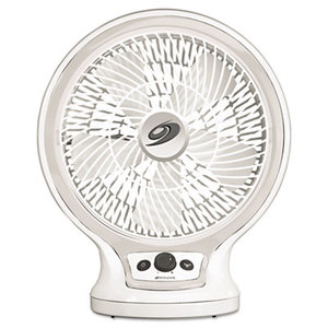 HOLMES PRODUCTS BDF1011A-GU Eco-Smart Table Fan, 2-Speed, White by HOLMES PRODUCTS