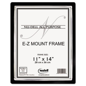 Nu-Dell Manufacturing Company, Inc 13980 EZ Mount II Document Frame, Plastic, 11 x 14, Black/Silver by NU-DELL MANUFACTURING