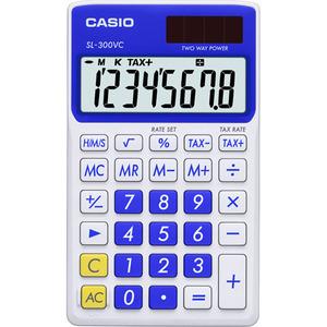 Casio Computer Co., Ltd SL-300VC-BE SL-300VC Basic Handheld Calculator (Blue)