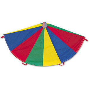 CHAMPION SPORTS NP12 Nylon Multicolor Parachute, 12-ft. diameter, 12 Handles by CHAMPION SPORT