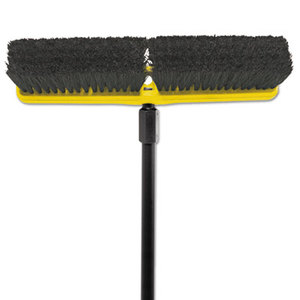 """RUBBERMAID COMMERCIAL PROD. RCP 9B07 BLA Tampico-Bristle Medium Floor Sweep, 18"""" by RUBBERMAID COMMERCIAL PROD."""