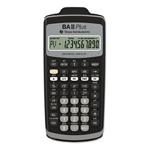 BAIIPlus Financial Calculator, 10-Digit LCD by TEXAS INSTRUMENTS