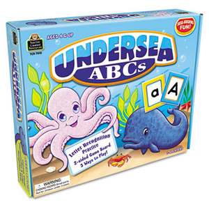 TEACHER CREATED RESOURCES TCR7810 Undersea ABCs Game, Ages 4 and Up, 1-4 Players by TEACHER CREATED RESOURCES