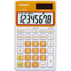 Casio Computer Co., Ltd SL-300VC-OE SL-300VC Basic Handheld Calculator (Orange)