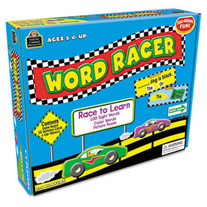 TEACHER CREATED RESOURCES TCR7811 Word Racer Game, Ages 5 and Up, 2-4 Players by TEACHER CREATED RESOURCES