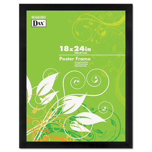 Black Solid Wood Poster Frames w/Plastic Window, Wide Profile, 18 x 24 by DAX MANUFACTURING INC.