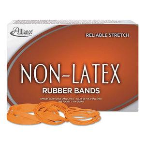 Alliance Rubber Company 37646 Non-Latex Rubber Bands, Sz. 64, Orange, 3 1/2 x 1/4, 380 Bands/1lb Box by ALLIANCE RUBBER