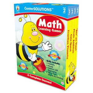 Carson-Dellosa Publishing Co., Inc 140052 Math Learning Games, Four Game Boards, 2-4 Players, Grade 2 by CARSON-DELLOSA PUBLISHING