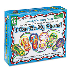Carson-Dellosa Publishing Co., Inc KE846000 I Can Tie My Shoes! Lacing Cards, Ages 4 and Up by CARSON-DELLOSA PUBLISHING