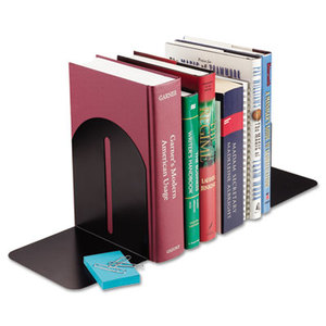 MMF INDUSTRIES 241017104 Fashion Bookends, 5 9/10 x 5 x 7, Black, Pair by MMF INDUSTRIES