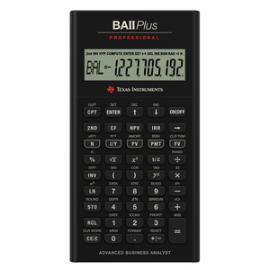 TEXAS INSTRUMENTS INC. IIBAPRO/CLM/1L1 TI BA II Plus Professional Financial Calculator