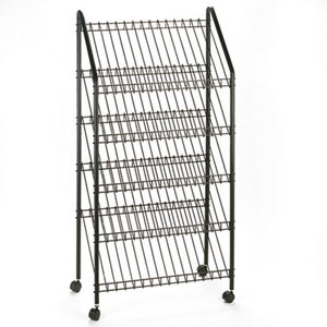 Safco Products 4129CH Mobile Literature Rack, 32-1/2w x 15-1/4d x 63-1/2, Charcoal by SAFCO PRODUCTS