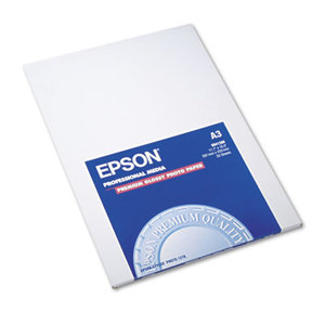 Epson Corporation S041288 Premium Photo Paper, 68 lbs., High-Gloss, 11-3/4 x 16-1/2, 20 Sheets/Pack by EPSON AMERICA, INC.