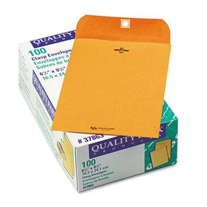 QUALITY PARK PRODUCTS 37863 Clasp Envelope, 6 1/2 x 9 1/2, 28lb, Brown Kraft, 100/Box by QUALITY PARK PRODUCTS