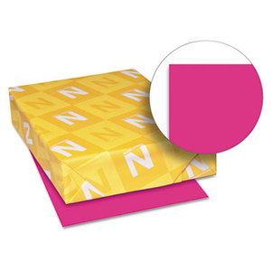 Neenah Paper, Inc 22681 Astrobrights Colored Paper, 24lb, 8-1/2 x 11, Fireball Fuchsia, 500 Sheets/Ream by NEENAH PAPER
