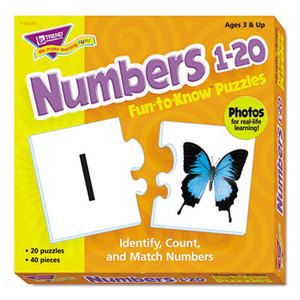 TREND ENTERPRISES, INC. T36003 Fun to Know Puzzles, Numbers 1-20 by TREND ENTERPRISES, INC.