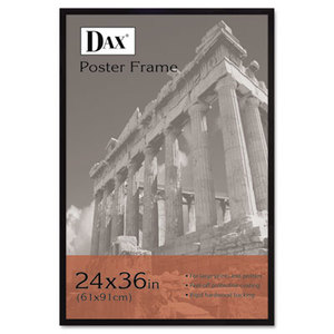 Flat Face Wood Poster Frame, Clear Plastic Window, 24 x 36, Black Border by DAX MANUFACTURING INC.