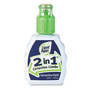Sanford, L.P. 42030 2-In-1 Correction Combo, 22 ml Bottle, White by SANFORD