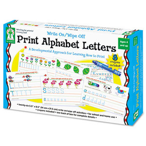Carson-Dellosa Publishing Co., Inc 846035 Write-On/Wipe-Off Print Alphabet Letters Activity Set, Ages 4 and Up by CARSON-DELLOSA PUBLISHING