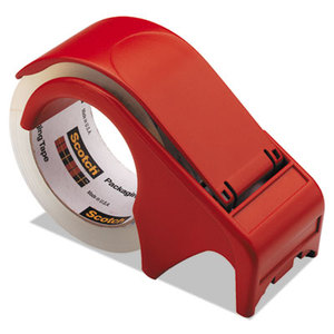 """3M DP300RD Compact and Quick Loading Dispenser for Box Sealing Tape, 3"""" Core, Plastic, Red by 3M/COMMERCIAL TAPE DIV."""