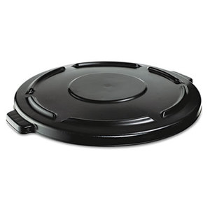 Vented Round Brute Lid, 24 1/2 x 1 1/2, Black by RUBBERMAID COMMERCIAL PROD.