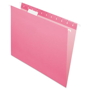 Cardinal Brands, Inc 81609 Essentials Colored Hanging Folders, 1/5 Tab, Letter, Pink, 25/Box by ESSELTE PENDAFLEX CORP.