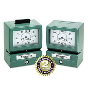 Acroprint Time Recorder Company 01-1070-400 Model 125 Analog Manual Print Time Clock with Date/0-12 Hours/Minutes by ACRO PRINT TIME RECORDER