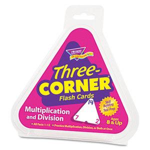 TREND ENTERPRISES, INC. T1671 Multiplication/Division Three-Corner Flash Cards, 8 & Up, 48/Set by TREND ENTERPRISES, INC.