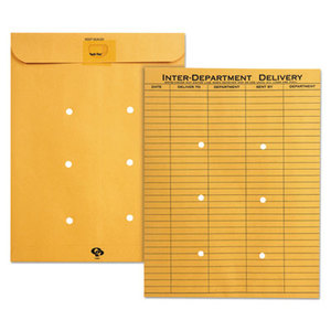 QUALITY PARK PRODUCTS 63664 Brown KraftResealable Redi-Tac Interoffice Envelope, 10 x 13, 100/Box by QUALITY PARK PRODUCTS