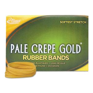 Alliance Rubber Company 20335 Pale Crepe Gold Rubber Bands, Sz. 33, 3-1/2 x 1/8, 1lb Box by ALLIANCE RUBBER