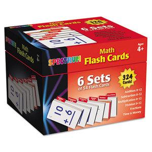 Carson-Dellosa Publishing Co., Inc 744086 Flash Cards Boxed Set, Math, 4 3/5 x 4 1/4, 354 Card Set by CARSON-DELLOSA PUBLISHING