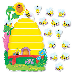 "TREND ENTERPRISES, INC. T8077 Busy Bees Job Chart Plus Bulletin Board Set 18 1/4"" x 17 1/2"" by TREND ENTERPRISES, INC."