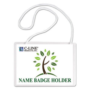 C-Line Products, Inc 97043 Specialty Name Badge Holder Kits, 4 x 3, White, 50/Box by C-LINE PRODUCTS, INC