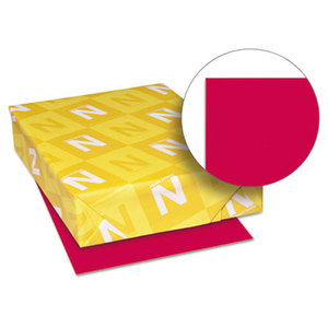 Neenah Paper, Inc 22551 Astrobrights Colored Paper, 24lb, 8-1/2 x 11, Re-Entry Red, 500 Sheets/Ream by NEENAH PAPER