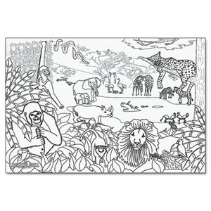 """PACON CORPORATION 0078930 Learning Walls Paper, African Safari, 72"""" x 48"""" by PACON CORPORATION"""