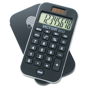 Victor Technology, LLC 900 900 Antimicrobial Pocket Calculator, 8-Digit LCD by VICTOR TECHNOLOGIES
