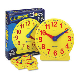 LEARNING RESOURCES/ED.INSIGHTS LER2102 Classroom Clock Kit, Learning Clock, for Grades Pre-K-4 by LEARNING RESOURCES