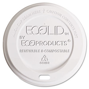 Hot Cup Lid, Fits 10-20oz Cups, Translucent, 800/Carton by ECO-PRODUCTS,INC.