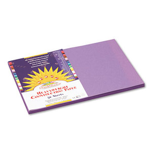PACON CORPORATION 7207 Construction Paper, 58 lbs., 12 x 18, Violet, 50 Sheets/Pack by PACON CORPORATION