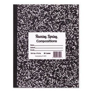 Roaring Spring Paper Products 77230 Marble Cover Composition Book, Wide Rule, 9 3/4 x 7 1/2, 100 Pages by ROARING SPRING PAPER PRODUCTS