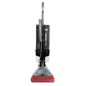 Electrolux Home Care Products SC689A Sanitaire Commercial Lightweight Bagless Upright Vacuum, 14lb, Gray/Red by ELECTROLUX FLOOR CARE COMPANY