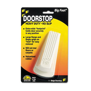 Big Foot Doorstop, No-Slip Rubber Wedge, 2-1/4w x 4-3/4d x 1-1/4h, Beige by MASTER CASTER COMPANY