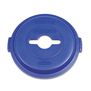 Single Stream Recycling Top for Brute 32gal Containers, Blue by RUBBERMAID COMMERCIAL PROD.