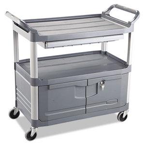RUBBERMAID COMMERCIAL PROD. RCP 4094 GRA Xtra Instrument Cart, 300-lb Cap, Three-Shelf, 20w x 40-5/8d x 37-4/5h, Gray by RUBBERMAID COMMERCIAL PROD.